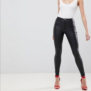 NEW WITH TAGS- Misguided Tall Coated Skinny Jeans